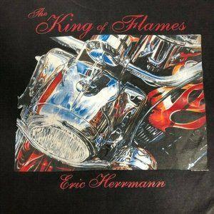 Vintage Eric Hermann Distressed Motorcycle T Shirt